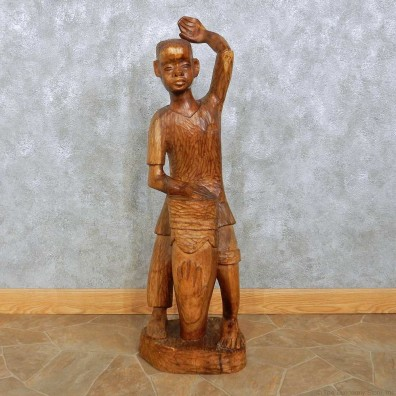 African Tribal Drummer Boy Carving For Sale #15179 @ The Taxidermy Store