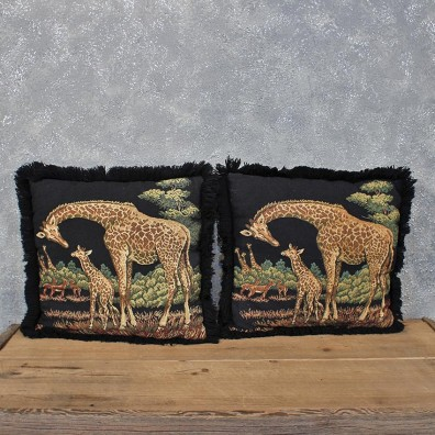 African Giraffe Pillow Set #12059 For Sale @ The Taxidermy Store