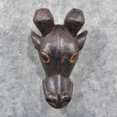 Original African Giraffe Mask Carving #11618 - For Sale @ The Taxidermy Store