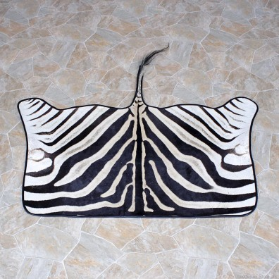 African Zebra Throw Rug Taxidermy Mount #12337 For Sale @ The Taxidermy Store