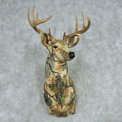 Camouflage Fabric Whitetail Shoulder Mount #13623 For Sale @ The Taxidermy Store