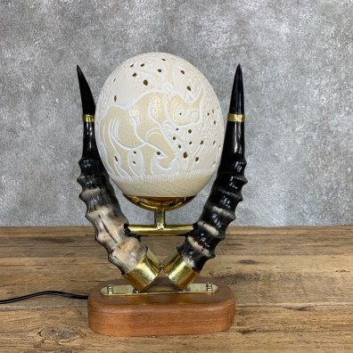 Ostrich Egg Lamp Safari Decor For Sale #22057 @ The Taxidermy Store