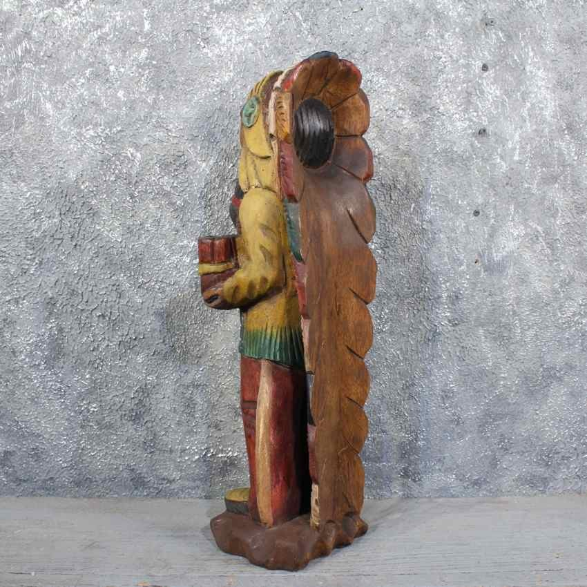 Wooden indian carving for sale the taxidermy store