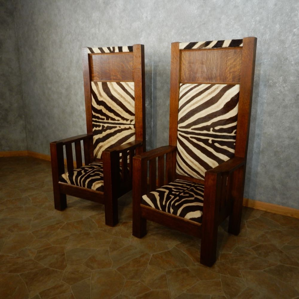 African zebra skin bishop chairs for sale 15028 the for African skin decoration