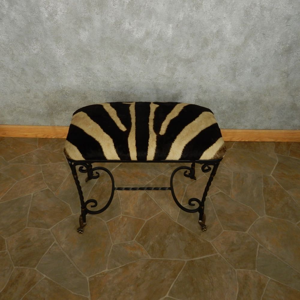 Swell African Zebra Hide Vanity Bench For Sale Machost Co Dining Chair Design Ideas Machostcouk