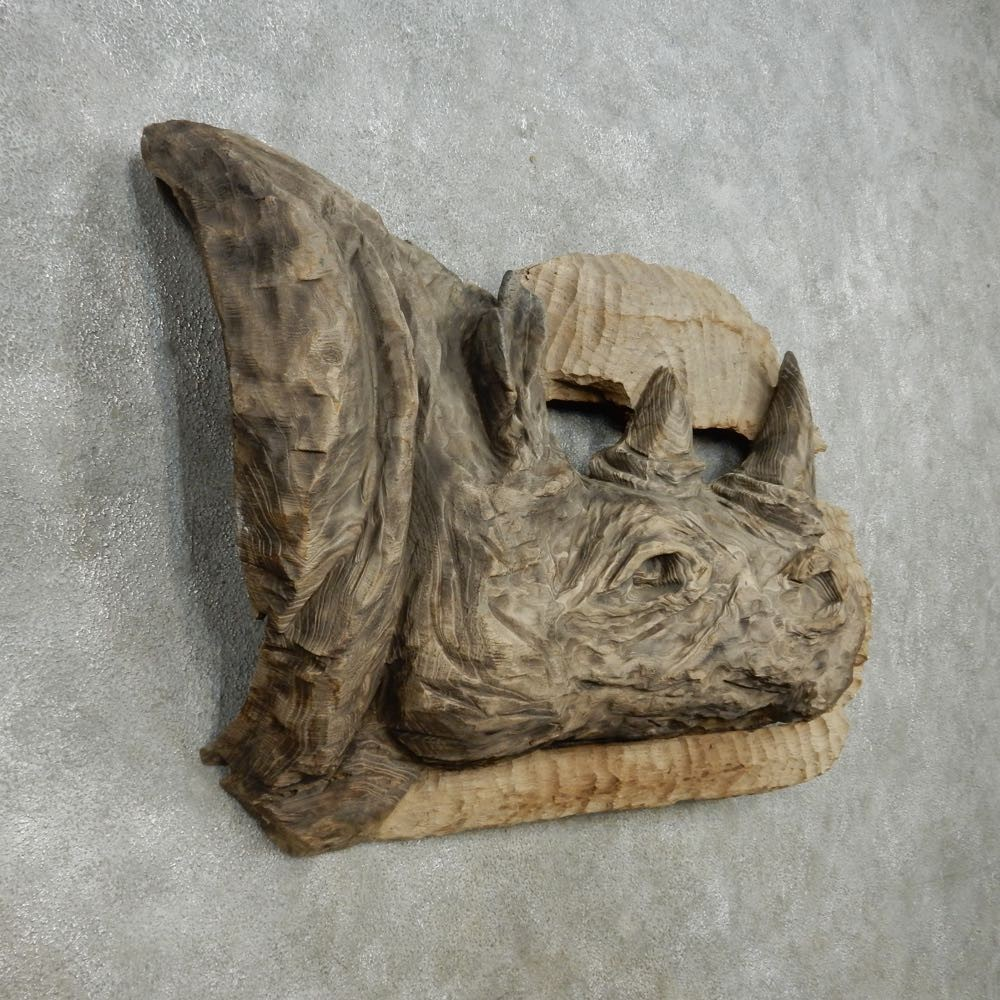 African rhinoceros wood carving for sale the