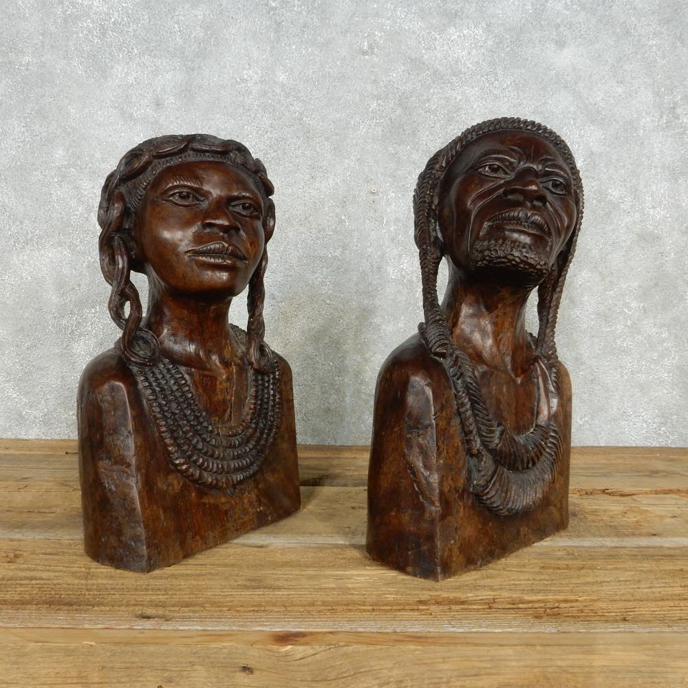 African maasai tribal head carvings for sale the