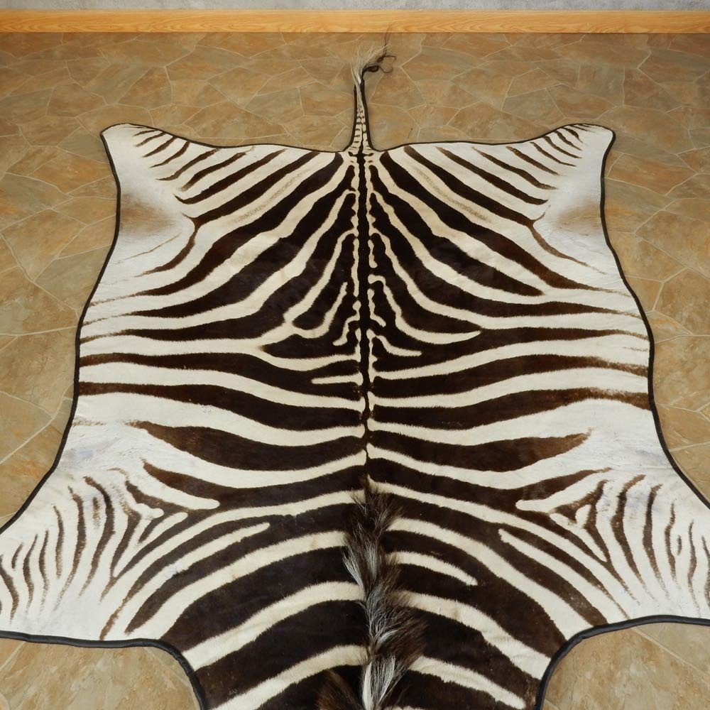 African Zebra Full-Size Rug For Sale #15705