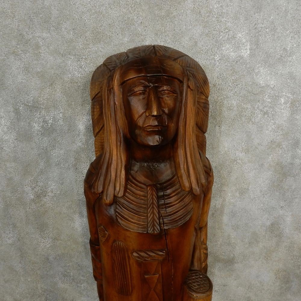 Native american chief wood carving for sale the