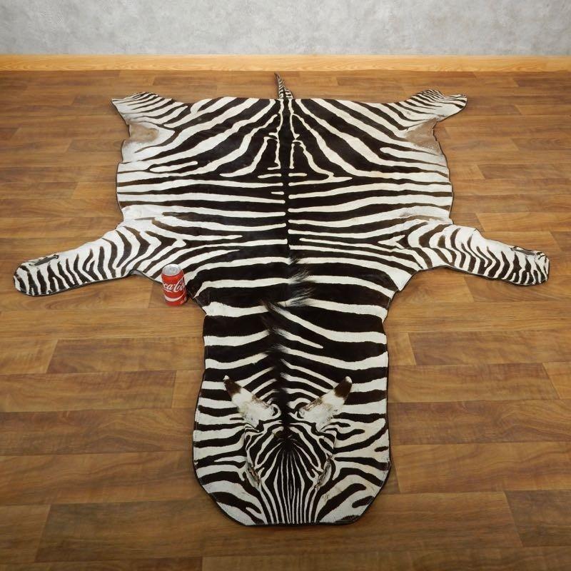 African Zebra Full-Size Rug For Sale #17855
