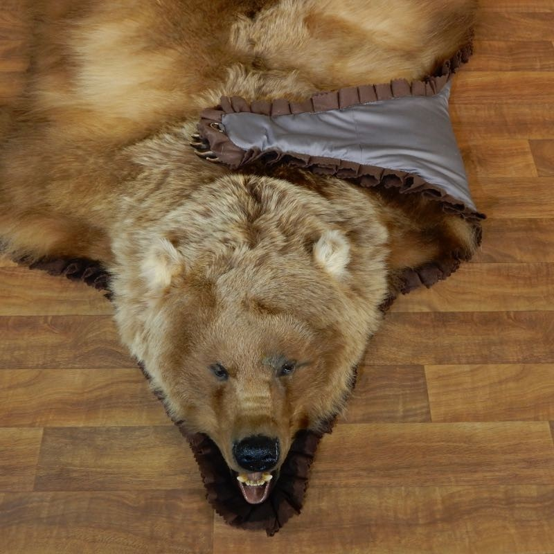 Grizzly Bear Full-Size Rug Mount For Sale #18209