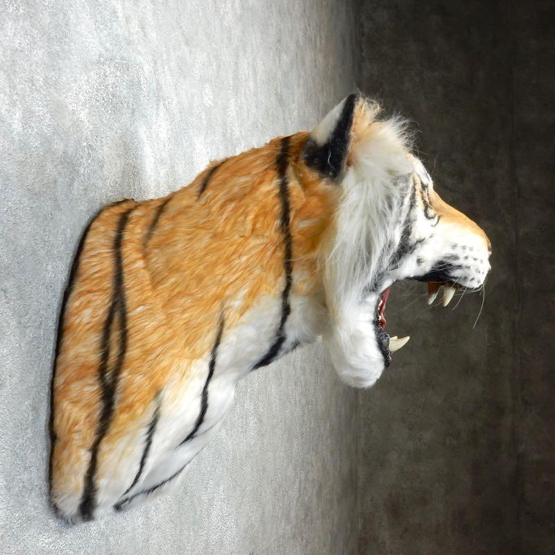 Taxidermy Tiger Rug For Sale: Reproduction Siberian Tiger Shoulder Mount #18293