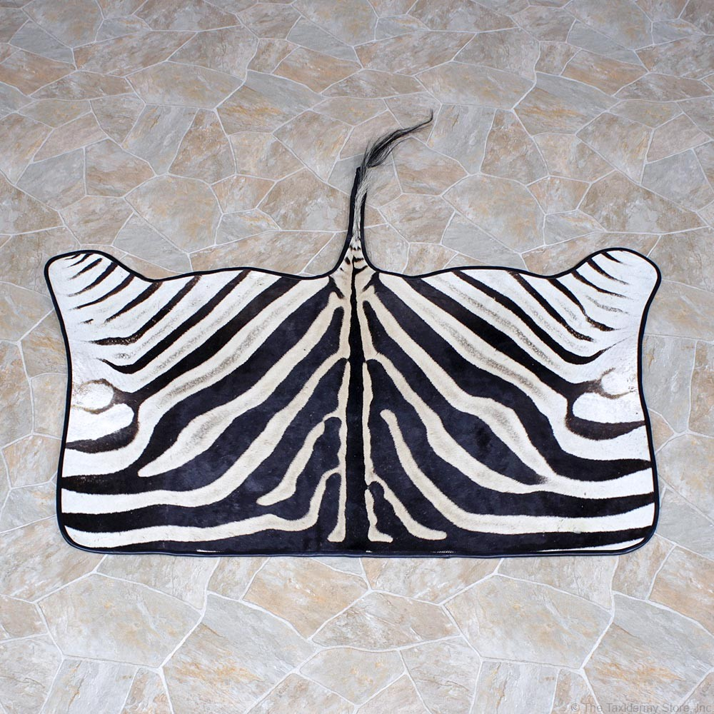 african zebra throw rug 12337 the taxidermy store. Black Bedroom Furniture Sets. Home Design Ideas