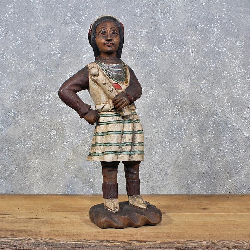 Wooden Female Indian Carving For Sale 11985 The Taxidermy Store