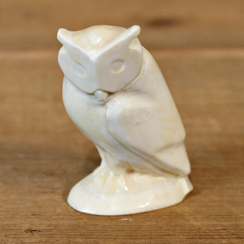 Native Ivory Owl Figurine For Sale 12070 The Taxidermy
