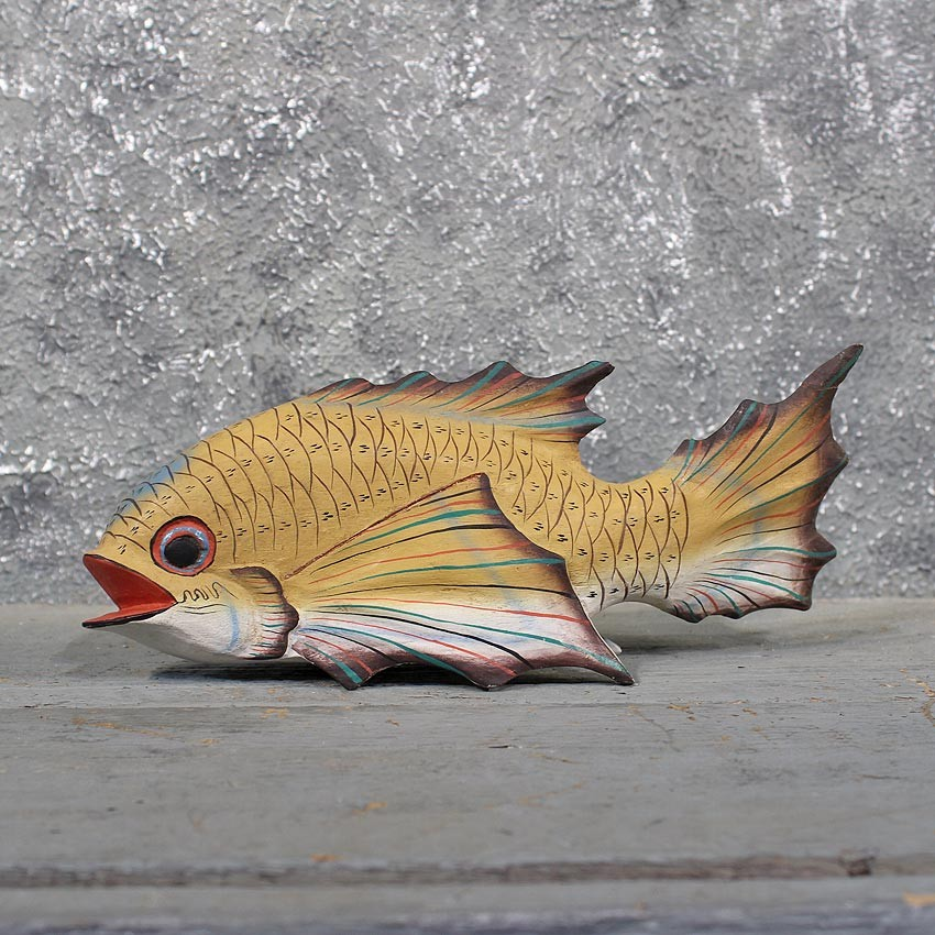 Ocean fish wood carving the taxidermy store