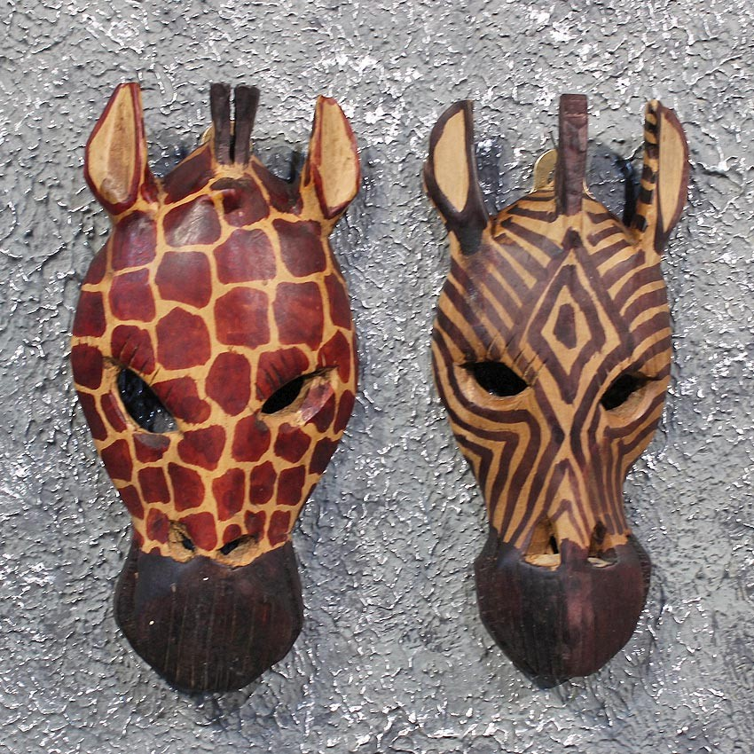 african giraffe and zebra mask for sale the taxidermy store