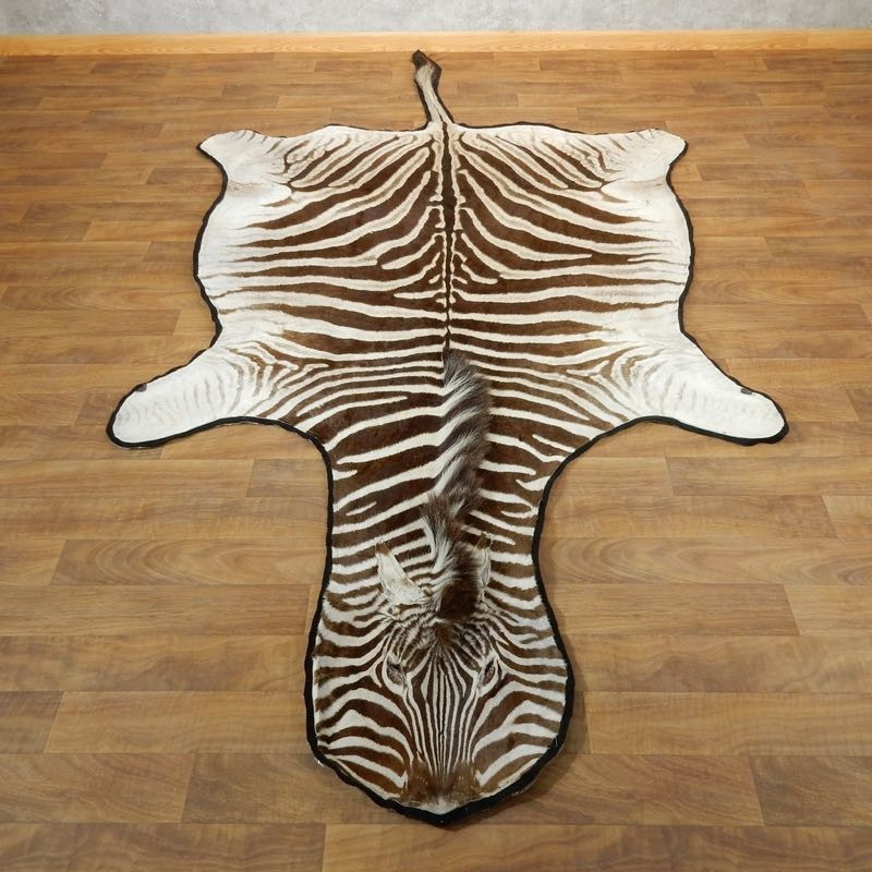 African Zebra Full-Size Rug For Sale #17870