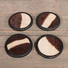 Zebra Hide Coasters #10608 - The Taxidermy Store