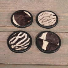 Zebra Hide Coasters #10609 - The Taxidermy Store