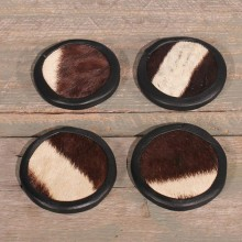 Zebra Hide Coasters #10611 - The Taxidermy Store