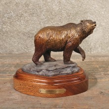 Rick Taylor Silvertip Grizzly Bear Bronze Sculpture For Sale