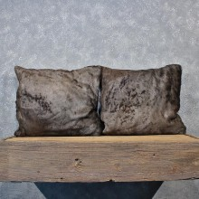 African Blue Wildebeest Hide Pillow Set #12048 For Sale @ The Taxidermy Store