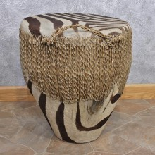 African Zebra Taxidermy Skin Drum #12443 For Sale @ The Taxidermy Store