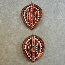 African Massai Warrior Shield Pair For Sale #16533 @ The Taxidermy Store