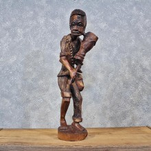 African Wooden Tribal Man Statue #11980 For Sale @ The Taxidermy Store