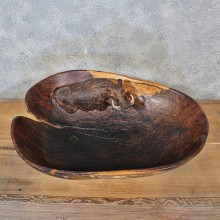 Warthog Wooden Bowl Carving #12046 For Sale @ The Taxidermy Store