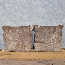 African Waterbok Hide Pillow Set #12053 For Sale @ The Taxidermy Store