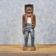 Carved Wooden Cowboy Statue #11977 - For Sale @ The Taxidermy Store