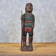 Carved Wooden Indian Statue #11983 For Sale @ The Taxidermy Store