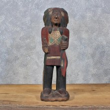 Carved Wooden Indian Statue #11984 For Sale @ The Taxidermy Store