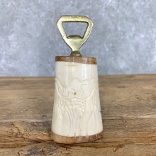 Carved Bone Handled Bottle Opener For Sale