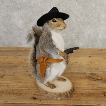 Cowboy Squirrel Novelty Mount For Sale #20734 @ The Taxidermy Store