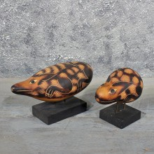 Hand Carved Peruvian Gourds #11589 - The Taxidermy Store