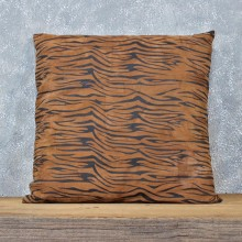 Striped Steer Leather Pillow #12051 For Sale @ The Taxidermy Store