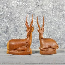 African Gazelle Wood Carvings #11593 - For Sale @ The Taxidermy Store