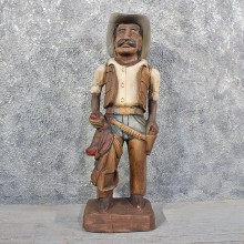 Carved Wooden Cowboy Statue #11626 - For Sale @ The Taxidermy Store