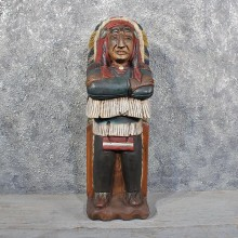 Carved Wooden Indian #11623 - For Sale @ The Taxidermy Store