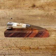 Mini Folding Pocket Clip with Elk Antler Handle For Sale #19223 @ The Taxidermy Store