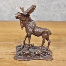 Miniature Moose Metal Figurine #11988 For Sale @ The Taxidermy Store