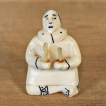 Authentic Native Ivory Eskimo Figurine #12086 For Sale @ The Taxidermy Store