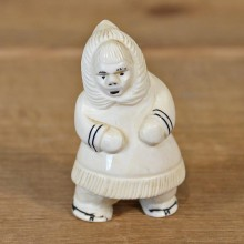 Authentic Native Ivory Eskimo Figurine #12088 For Sale @ The Taxidermy Store