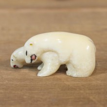 Native Ivory Polar Bear Figurine #12079 For Sale @ The Taxidermy Store