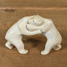 Native Ivory Polar Bear Figurine #12064 For Sale @ The Taxidermy Store