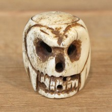 Authentic Native Ivory Carved Skull Figurine #12090 For Sale @ The Taxidermy Store