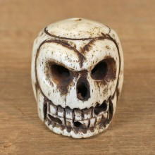Authentic Native Ivory Carved Skull Figurine #12091 For Sale @ The Taxidermy Store